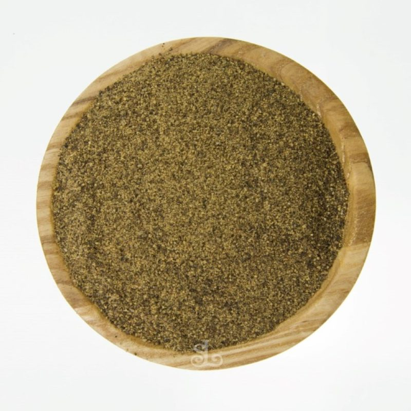 peppercorns black ground